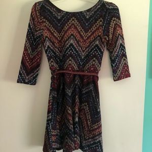 Lily Rose 3/4 Sleeve Knit Dress Size XS